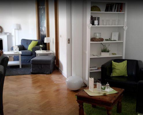 Das Wohnzimmer im Café Wunderbar in Fulda